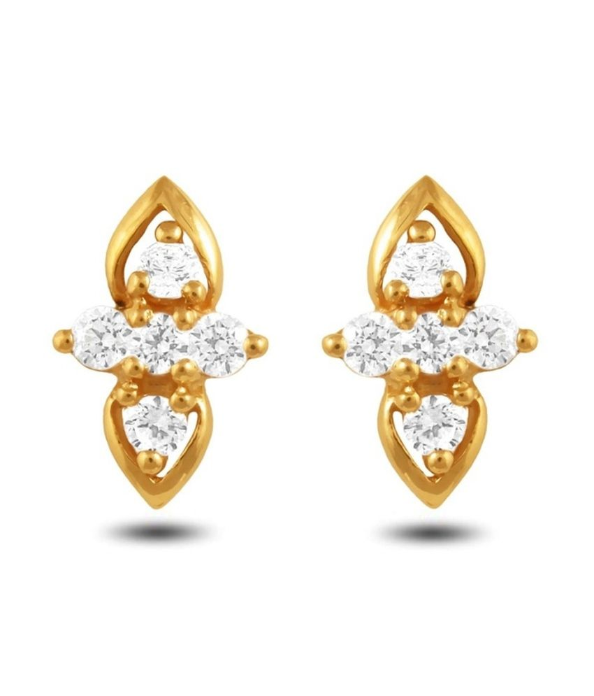P.N.Gadgil Jewellers 22kt Gold Stud Earrings