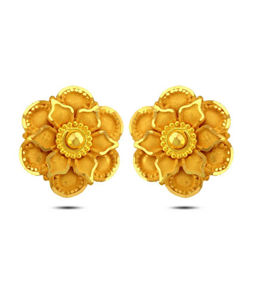 P.N.Gadgil Jewellers 22kt Gold Stud Earrings