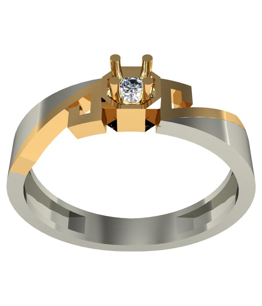 Saanvi Jewel 18kt Yellow Gold Diamond Couple Bands