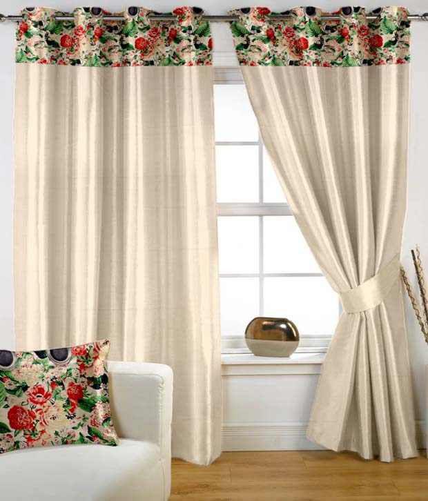 HOMEC Single Window Eyelet Curtain Contemporary Beige