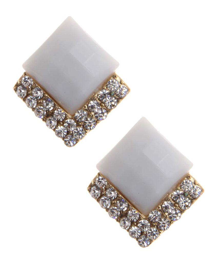 NIROSHA White Style Diva Contemporary Earrings for Women