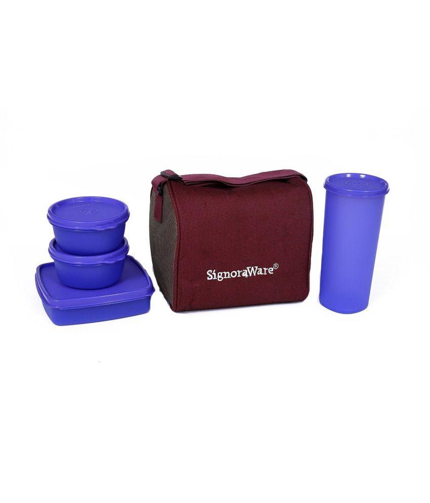 Signoraware best jumbo violet lunch box with bag buy - Jumbo mobel discount ...