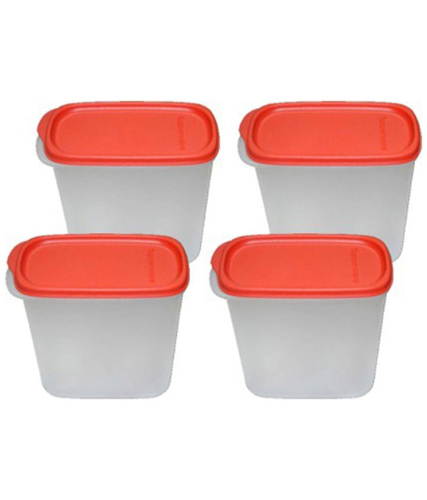 Tupperware Transparent Virgin Plastic 1700ml Containers Set Of 6