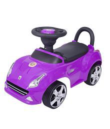 EZ' PLAYMATES PUSH & PULL BABY RIDE ON SEDAN CAR PURPLE