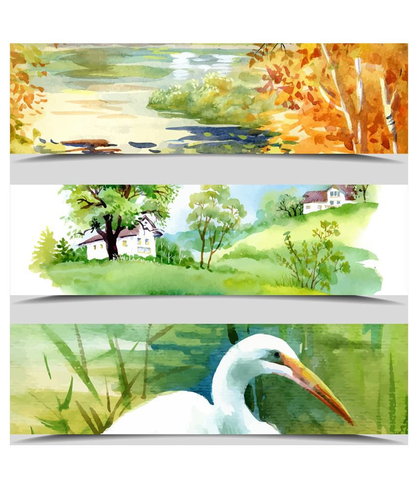Deepika Creation Acrylic Painting With Frame Set Of 3