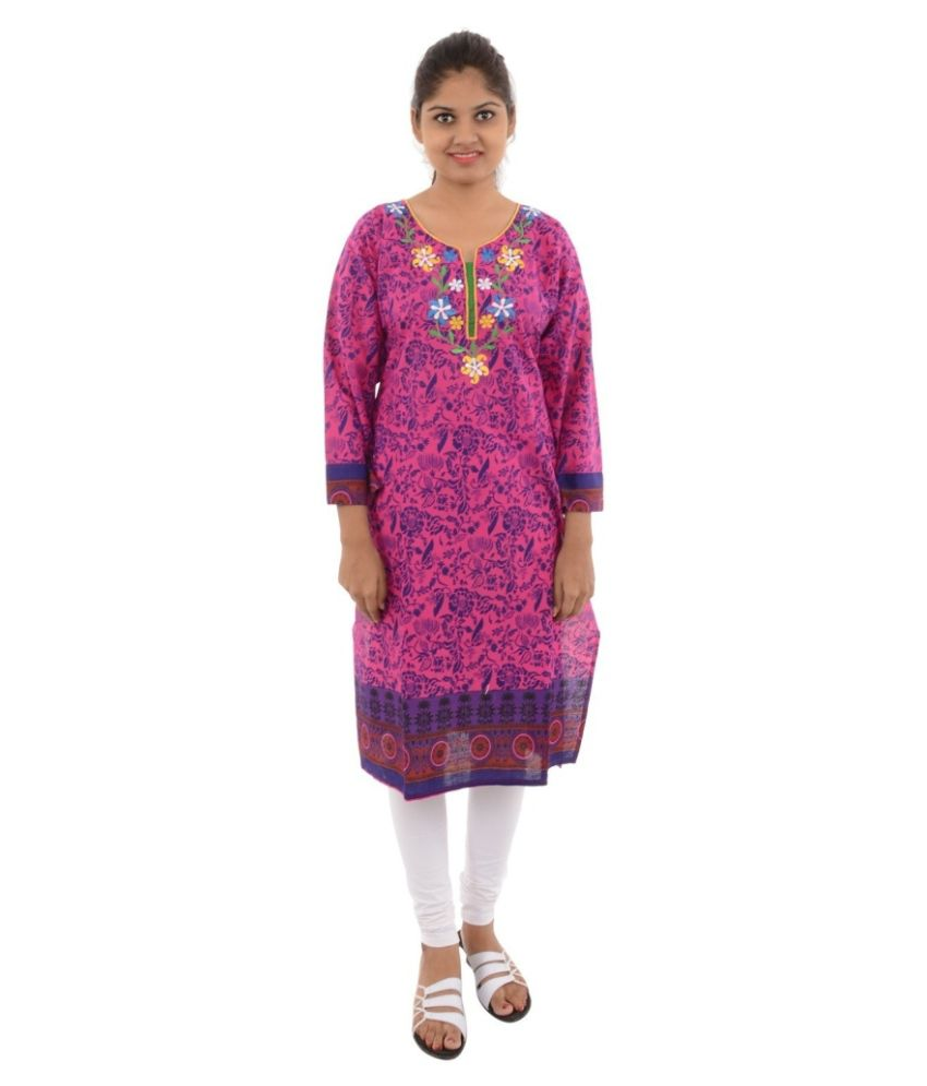 Jagadamba's Purple Cotton Kurti