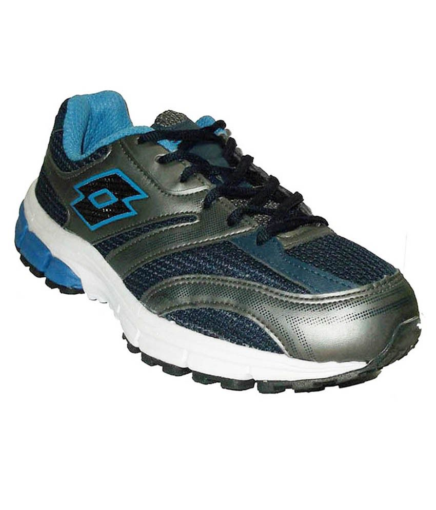 lotto navy blue grey sports shoes price in india buy
