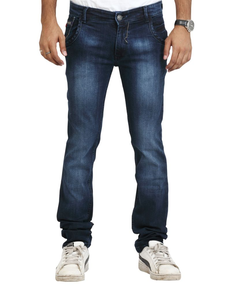 Police Blue Slim Fit Jeans