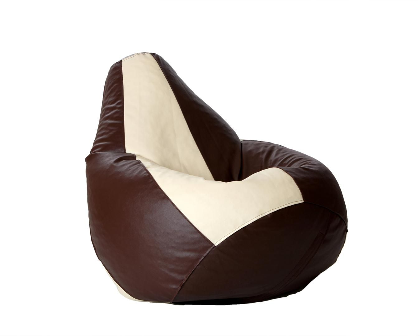 Comfy XL Bean bag with Beans in Brown and Beige