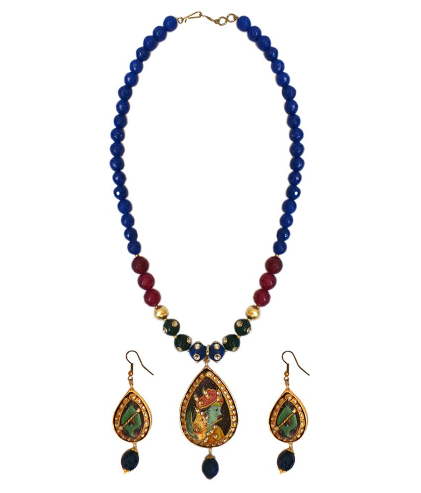 Charvee Multicolour Alloy Necklace Set