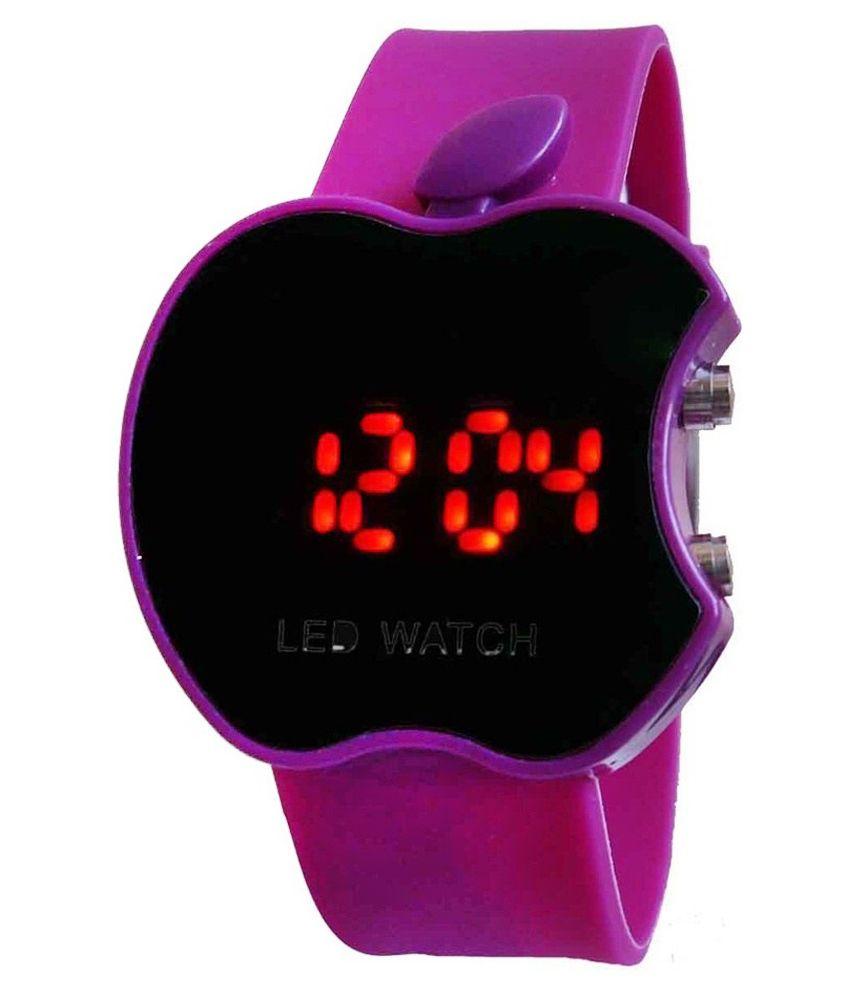 Tct Black And Purple Digital Watch