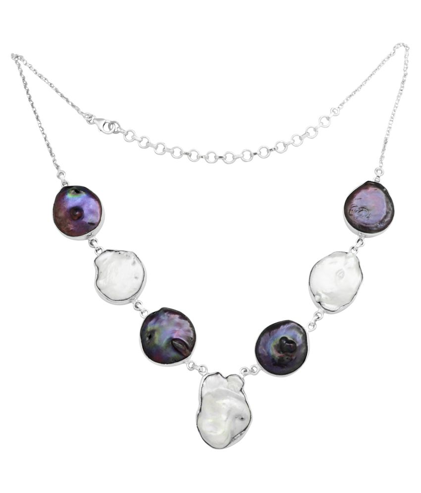 Yugshajewels 92.5 Sterling Silver Necklace