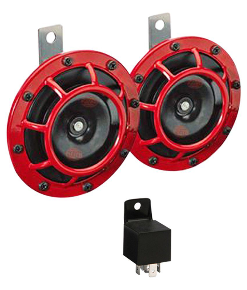 Loud Car Horn >> Hella Car Super Loud Red Grill Horn Pair Relay Hyundai I20 Type 2