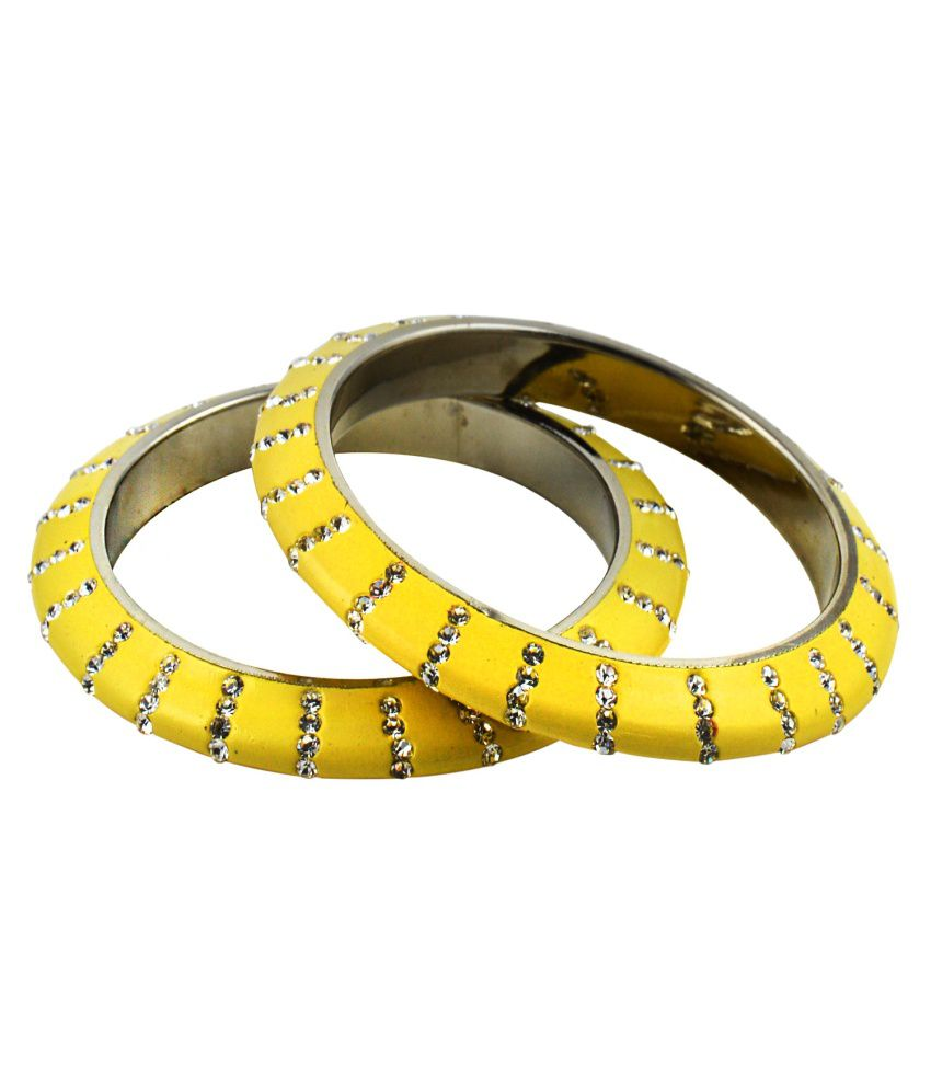 Saniya Arts Bridal Yellow Lac Bangle Set
