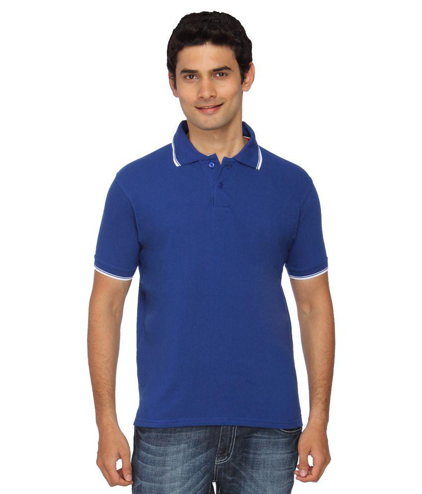 Uc Young Blue Half Sleeve Basic Wear Polo T Shirt