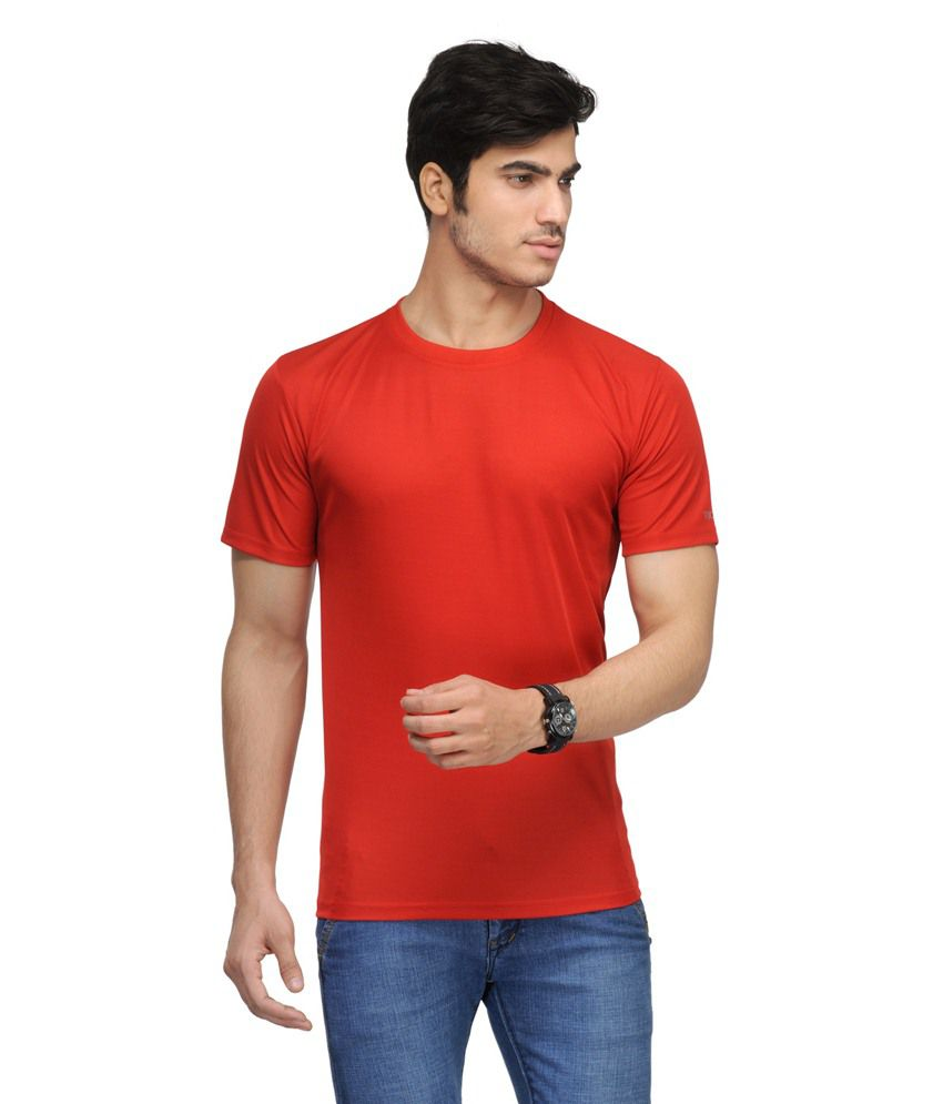 Vicbono Red Polyester T Shirt