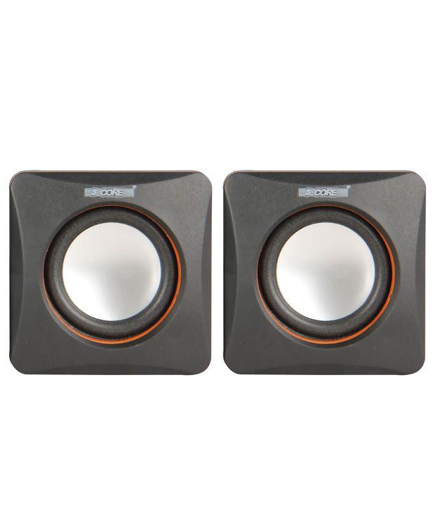 5 Core Multimedia Spk 21 For Computer Satellite Speaker - Black