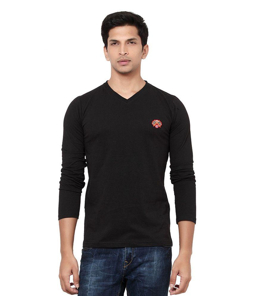 L.A. Seven Black Cotton T-shirt