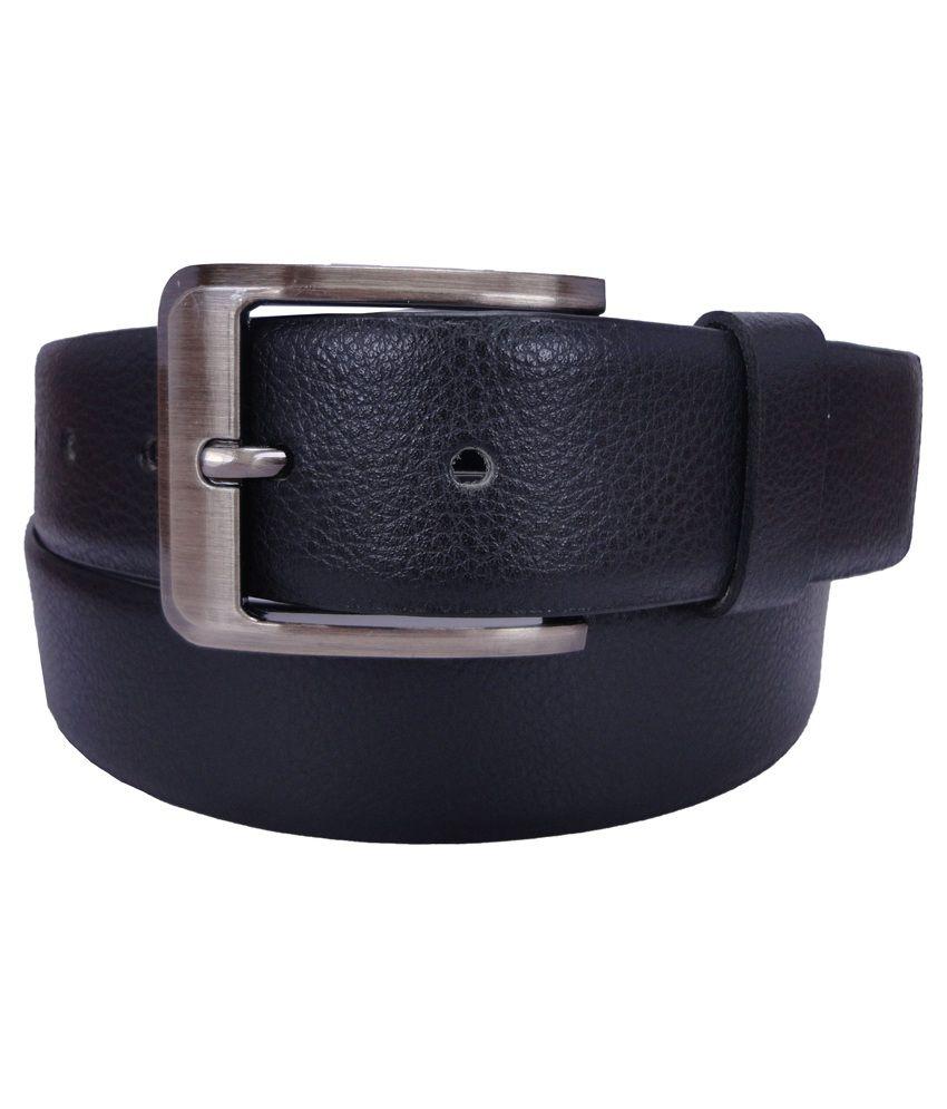 Revo Black Leather Casual Belt