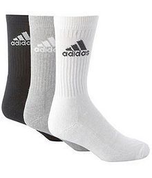 Adidas Multicolour Casual Full Length Socks For Men - 3 Pair Pack
