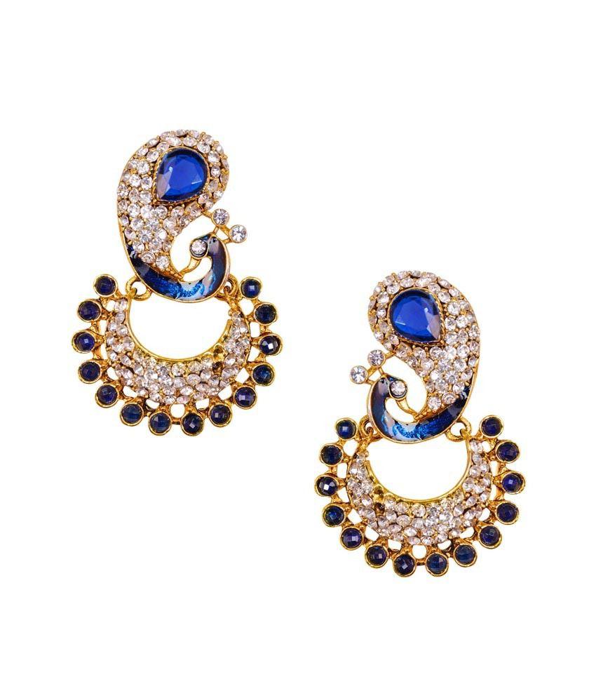 Aaduki Multicolor Brass Earrings