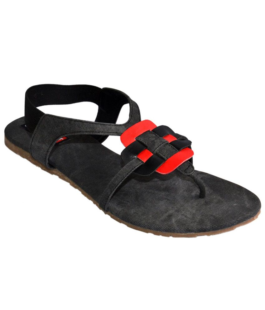 Cygnet Black Sandals