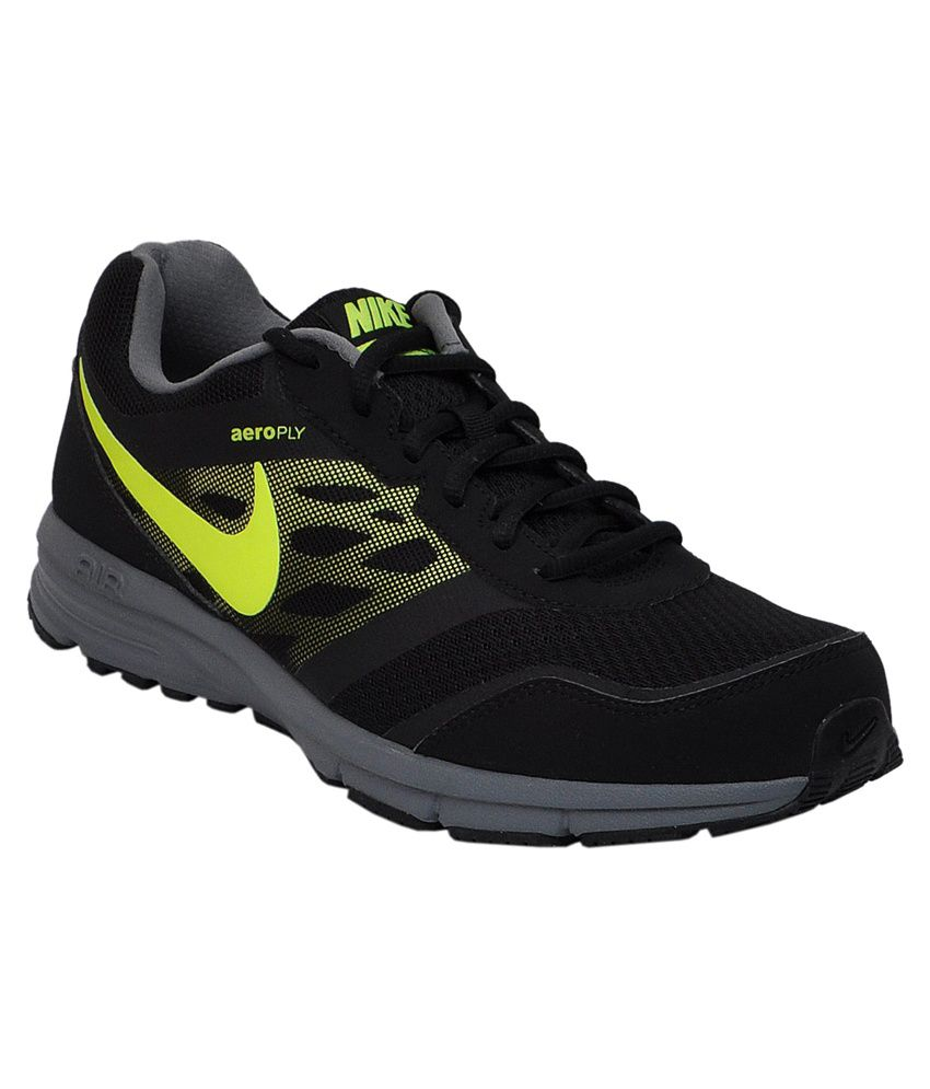f7d6489dd4ed2 Nike Air Relentless 4 MSL Black and Green Sports Shoes - Buy Nike Air  Relentless 4 MSL Black and Green Sports Shoes Online at Best Prices in India  on ...