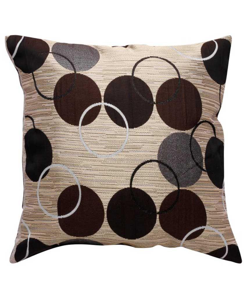 A.p. Handloom Multicolour Contemporary Poly Cotton Cushion Cover