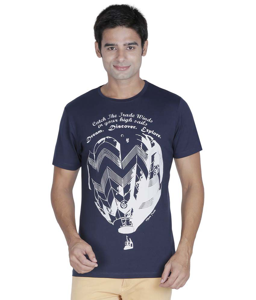 Element Of Humanity Navy Cotton T-shirt
