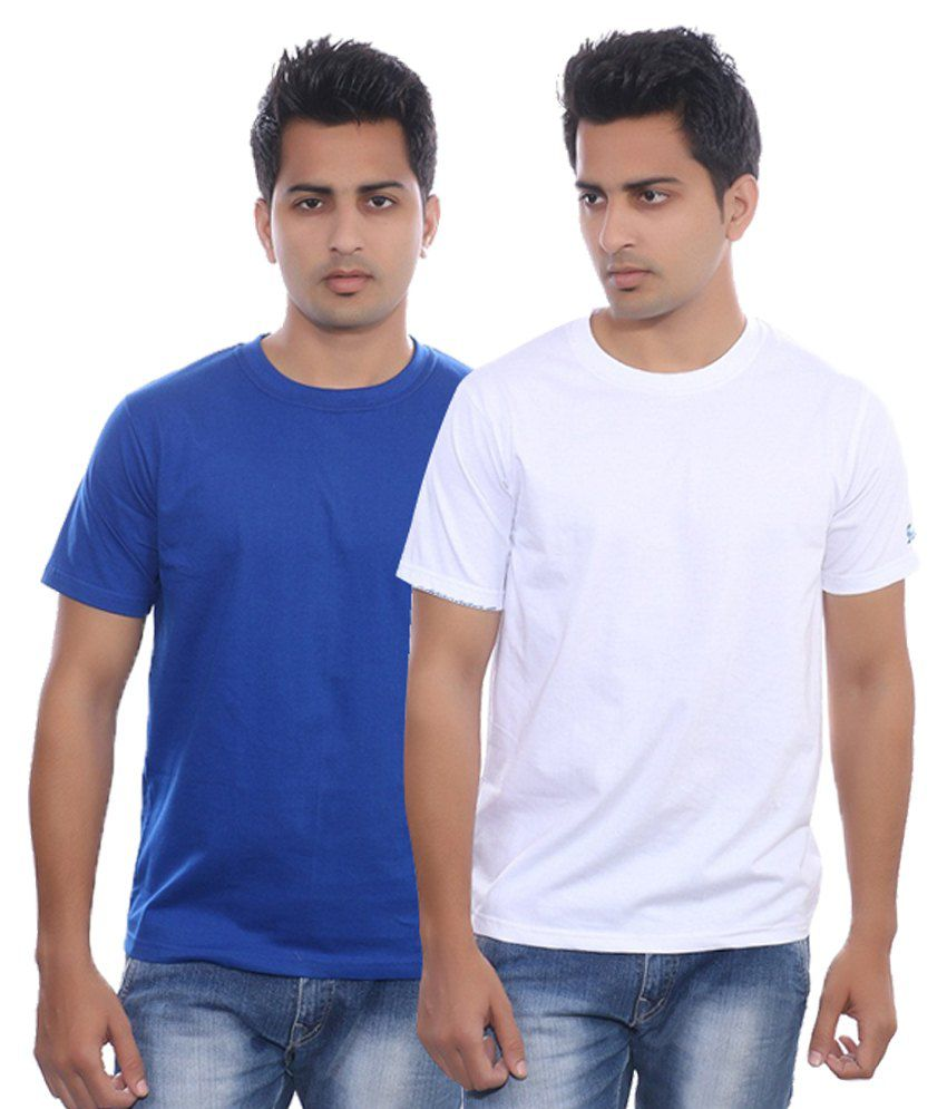 Fabilano Multicolour Cotton T Shirt - Pack Of 2