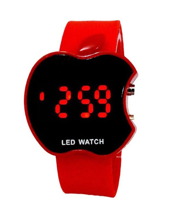 Tct Red Rubber Automatic Digital Watch