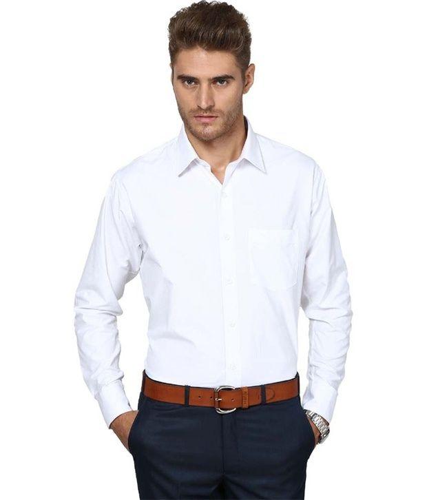 Aries White Cotton Blend Slim Fit Shirt