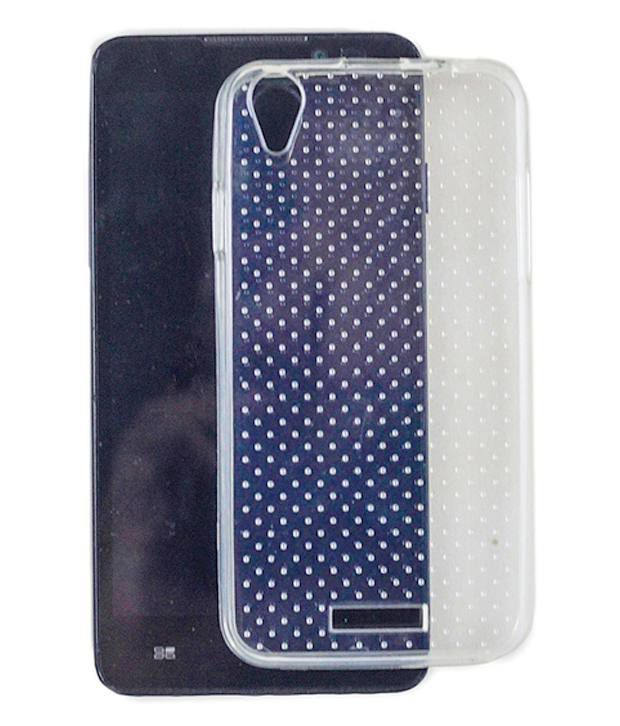 reputable site 9f54d d4570 Ms Lava Iris X1 Mini X1 Atom Back Cover Doted Transparent Cover Case ...