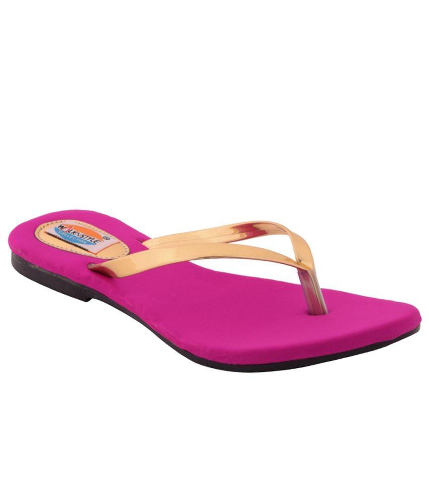 Walk N Style Golden Flat Slip-Ons