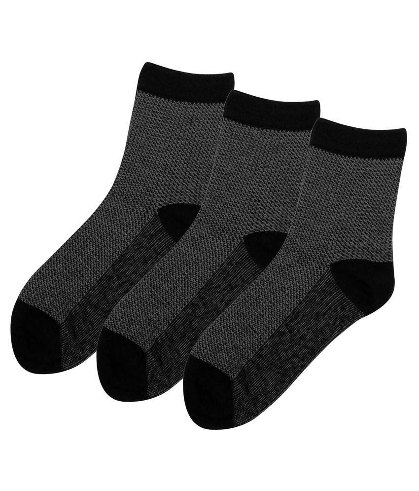 Zobello Multicolour Cotton Full Length Socks Pair Of 3