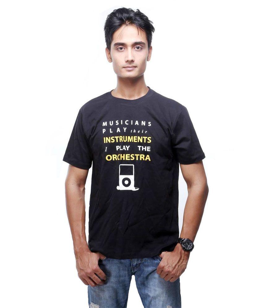 Garbattic Black Cotton T-Shirt