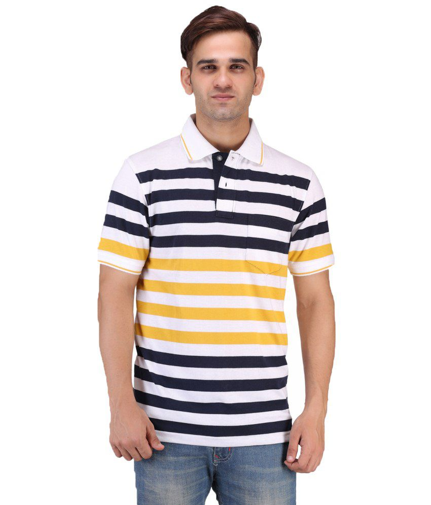 Keywest Multicolour Cotton Polo T-shirt