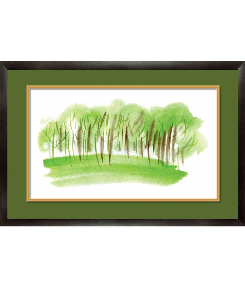 Mataye Graphics Acrylic Nature Painting With Frame