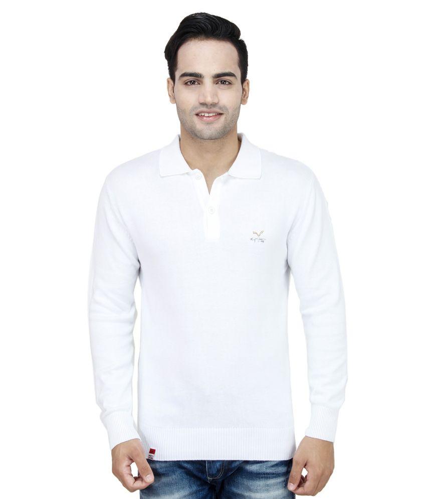 e165d6c8e Mufti Men s T-shirt White Full Sleeves Basics Polo T-shirt - Buy Mufti Men s  T-shirt White Full Sleeves Basics Polo T-shirt Online at Low Price -  Snapdeal. ...