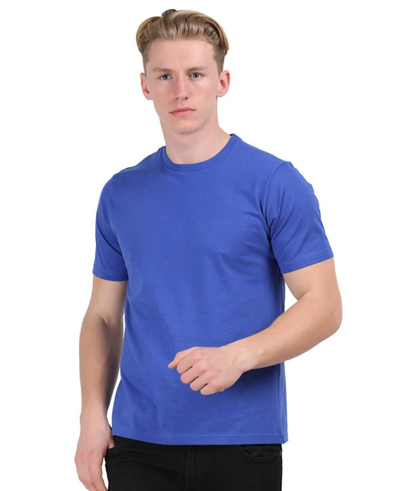 Chakra Blue Cotton T-shirt