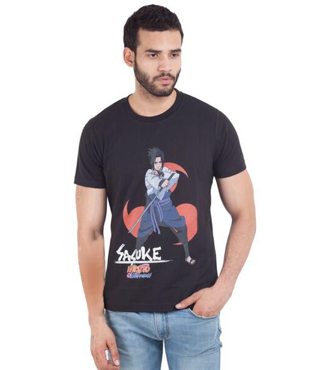 Naruto Black Cotton T-shirt