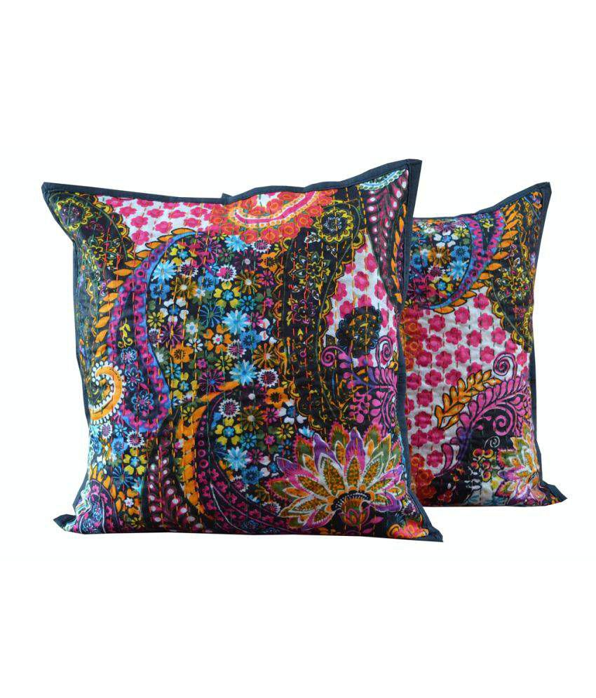 Khushal Multicolour Cotton Cushion Cover Set Of 2