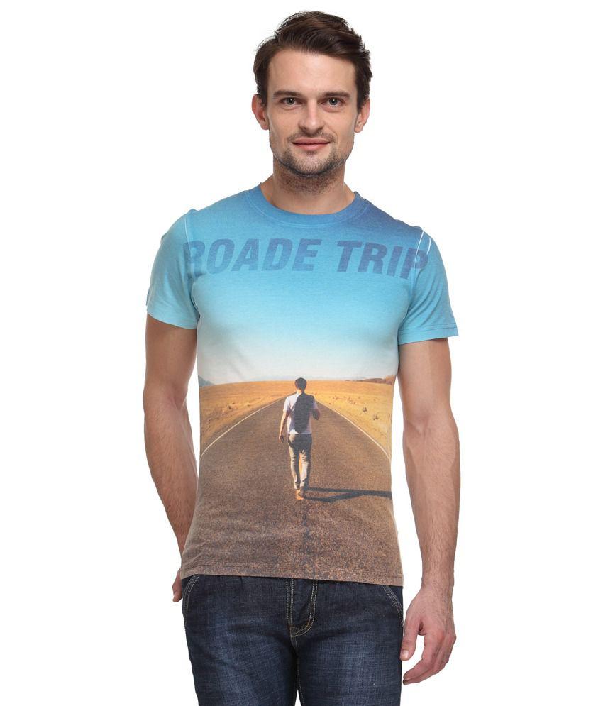 Wear Your Mind Multicolour Cotton Blend T-Shirt