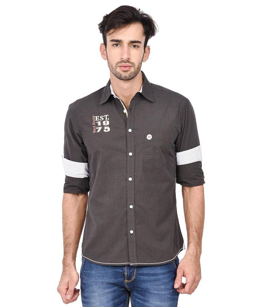 Blackrooster Brown Casual Wear Shirt