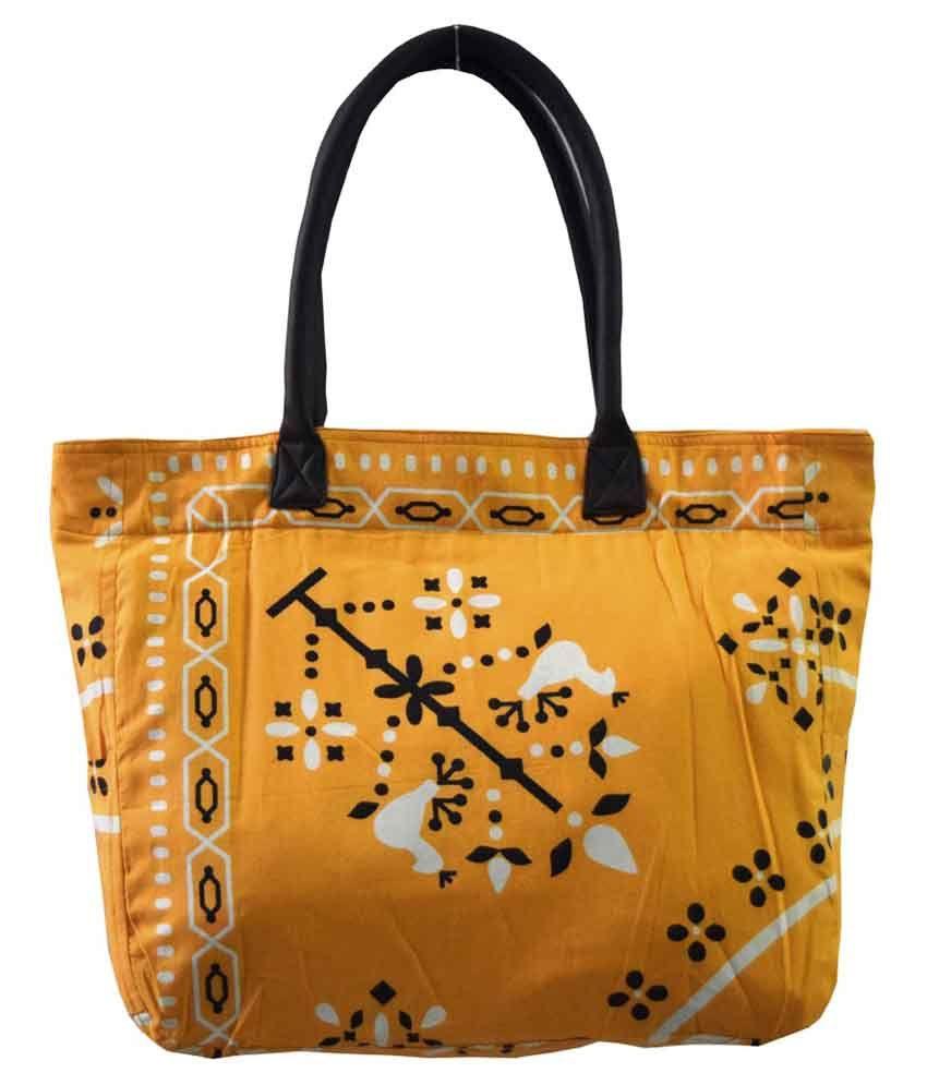 HVE Yellow Zip Shoulder Bag