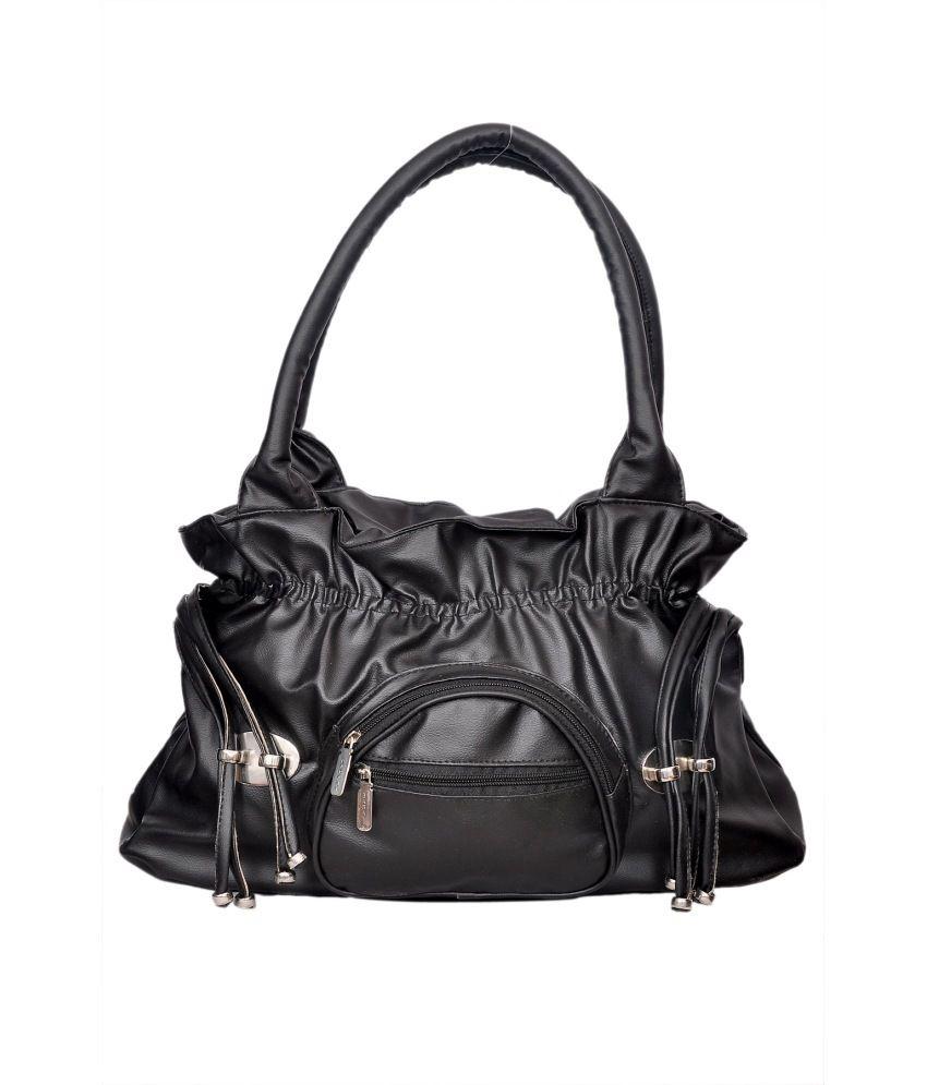 SMS Black Shoulder Bag