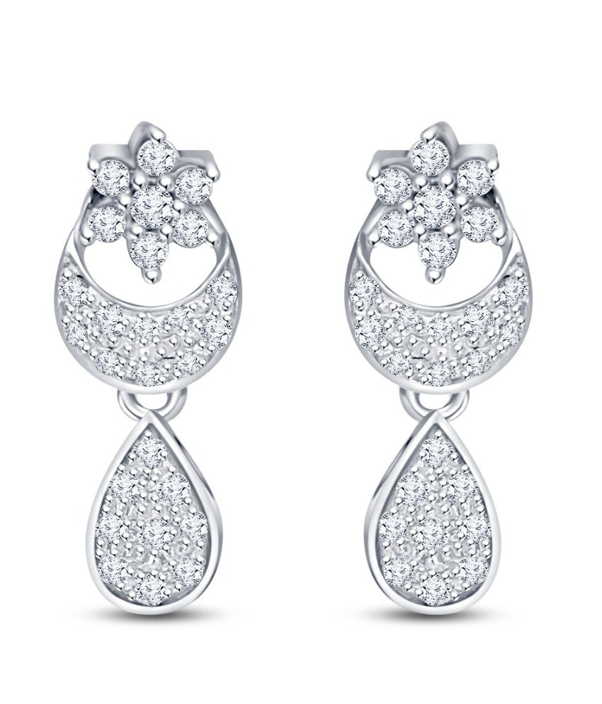 Siover 92.5 Sterling Silver Cubic zirconia Drops
