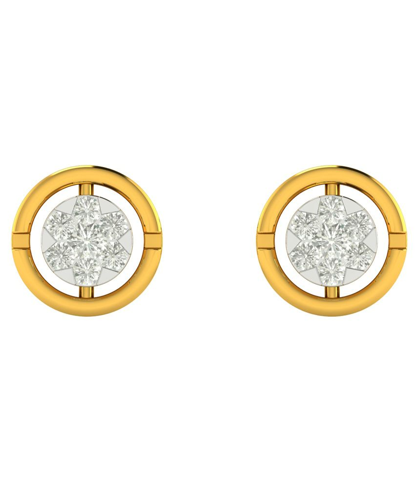 Charu Jewels 18kt Gold Diamond Studs