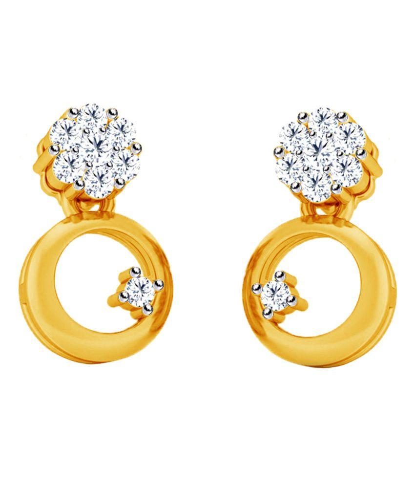 Jacknjewel Contemporary 18 Kt Diamond Earrings