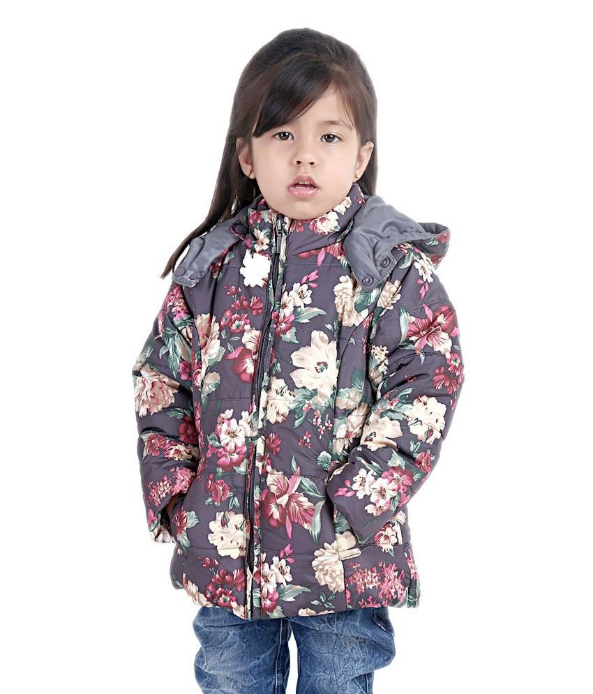 Beebay Multicolour Polyester Floral Design Winter Jacket